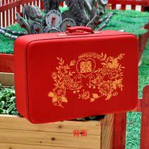时尚漂亮双面印花大红色结婚箱子喜庆陪嫁箱行礼箱旅行箱包行李箱 价格:59.00