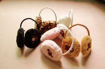 小熊派派●满49包邮 豹纹保暖毛绒后戴式耳罩/耳套 价格:5.00