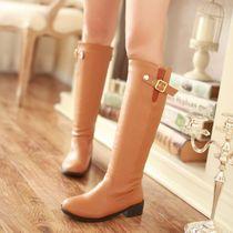 马丁靴 女 英伦冬季女士长靴高筒靴中跟平底女鞋子甜美大小码定做 价格:69.00