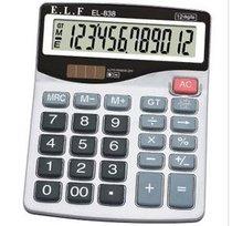 易利发EL-838计算器 办公商务计算机太阳能双电池计算机学生用 价格:22.00