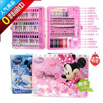 正品迪士尼美劳派128件画笔水彩笔套装学习用品文具礼盒生日礼物 价格:38.00