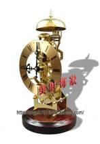 北极星机械上弦金属铜座钟/透视机芯木钟/机械简约创意钟风水辟邪 价格:240.00