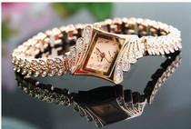 2013新款玫瑰金水钻手表高档商务手链表石英女表批发 women watch 价格:29.00