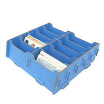 丽珑 创意文具收纳盒 十格大容量名片盒 DIY木质名片架A3015 价格:26.00