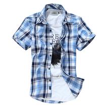 ��w琼斯swatch originals真维斯官方旗舰店男短袖格子衬衣衬衫 价格:75.00
