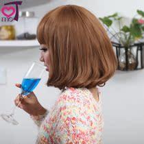可慕短发 女 梨花 BOBO发型 修脸 女生 时尚假发 短卷发 齐刘海 价格:39.98