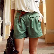 若印 原创女装 英伦范高品质时尚短裤 卷边休闲潮流热裤 裤子 P25 价格:32.00