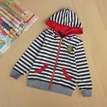 专柜正品法国COBOL2012新款男女童中童春秋条纹卫衣运动帽衫外套 价格:89.90