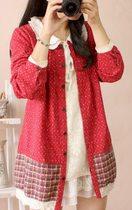 秋装新款长袖衬衣女衬衫宽松沐麦女装外套 价格:79.00