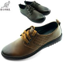意大利袋鼠男鞋 休闲鞋 潮男鞋 牛皮橡胶底 韩版透气柔软舒服时尚 价格:188.00