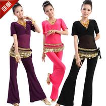 肚皮舞套装新款 练习连体高档印度舞蹈表演出服装 高弹有大码包邮 价格:55.00
