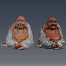 知乐佛 宋代汝窑茶玩 哥窑 手工紫砂茶宠装饰摆件 汽车陶瓷工艺品 价格:68.00