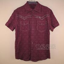 特价清仓艾格 EHOMME专柜正品EH 男士 衬衫 男 短袖 衬衣123401 价格:19.60