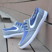 春夏季新款男士潮流日常休闲鞋透气牛仔帆布鞋男单鞋子韩版板鞋 价格:50.00