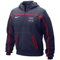 美国代购2010年世锦赛美国男篮/耐克Nike Federation 1/4 Zip帽衫 价格:798.00