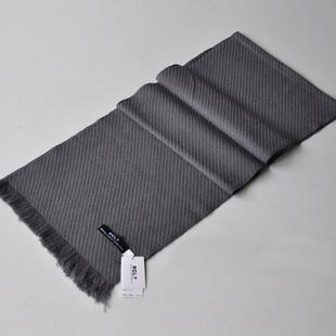 2013款 男士时尚休闲百搭款 纯色斜纹纯羊毛围巾 wy238 价格:69.00