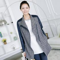韩国代购中老年春季女装外套时尚妈妈人造皮革夹克外套 JK40211 价格:777.10