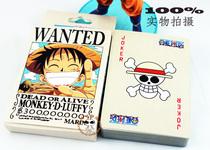 满包邮 海贼王扑克牌 通辑令海报 路飞索隆香吉动漫原版扑克牌 价格:7.50