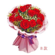 海口海南国贸大学城红玫瑰鲜花店送花礼品七夕情人节促销特价速递 价格:75.00