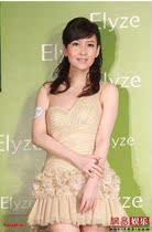 新款 BCBg原单周慧敏款浅金色单肩性感短裙小礼服公司年会晚装 价格:428.00