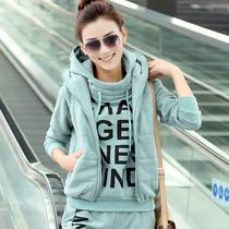 小意达2013春装韩版女装休闲长裤子马甲运动套装 卫衣三件套加厚 价格:199.00