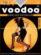 好名堂 丝袜 voodoo珠光油亮8CM宽蕾丝边长统袜 防滑硅胶澳洲品牌 价格:29.00