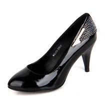 红蜻蜓专柜正品女单鞋头层牛皮真皮高跟职业工作礼仪OL女鞋包邮 价格:149.00