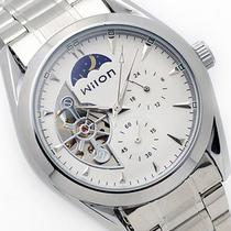 特价正品Wilon威龙全自动机械手表日月星辰五针镂空钢带男表2012 价格:92.00