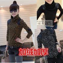 加厚加绒高领打底衫女韩版修身长袖t恤衫春装女装大码显瘦小衫潮 价格:38.00