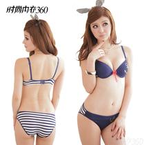 大学新生开学必备韩国海军水手条纹锚流行时尚可爱少女学生内衣文 价格:39.00