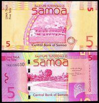 外国钱币  西萨摩亚 5塔拉纸币 海滩风光 价格:25.00
