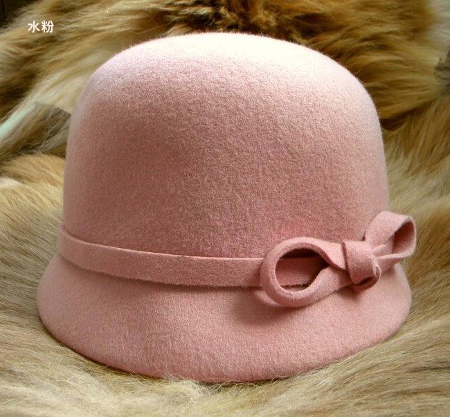 IHAT 浪漫结 欧美羊毛帽 骑士帽新款礼帽疯抢800件!韩版帽子 礼帽 价格:85.00