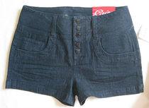 2013春夏女装GUESS牛仔短裤外贸原单高腰排扣直筒修身弹力女显瘦 价格:189.00