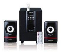 双皇冠:兰欣新品U-3000 多功能插卡音箱 带遥控/均衡 2.1低音炮 价格:140.00