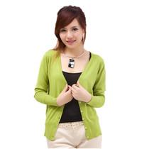 卡贝斯薇 2013秋装新款韩版百搭大码针织外套长袖毛针织衫女开衫 价格:68.00