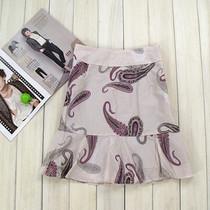 夏装新 外贸正品名族风纯棉印花荷叶边半身裙中裙 淑女 甜美 价格:4.80