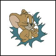 猫和老鼠-老鼠 十字绣图 重绘图纸 XSD源文件 绣图有线量 皇冠 价格:1.00
