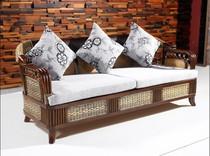 藤艺风 藤木沙发组合客厅 藤沙发三人 高档藤沙发 天然藤编织特价 价格:2366.00