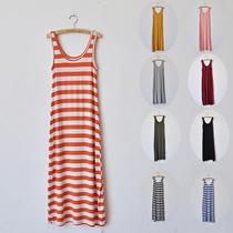 2013夏季新款 女连衣裙长裙无袖背心裙莫代尔沙滩裙子打底裙 多色 价格:33.15