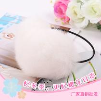 樱花耳罩/细架子兔毛耳套耳暖/冬季保暖必备 价格:29.00
