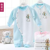 初生婴儿保暖连体衣 爬爬服 新生儿衣服 加厚哈衣连体衣秋冬服装 价格:75.00
