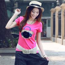艾路丝婷2013新品夏装韩版时尚潮修身显瘦大码体恤短袖T恤女0847 价格:29.00