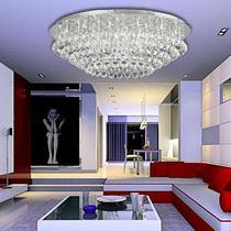 朗盛 现代简约时尚圆形水晶灯客厅灯豪华大气吸顶灯卧室灯具M1080 价格:850.00