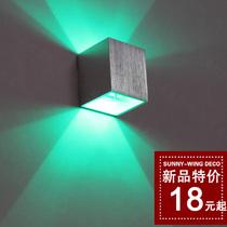 简约现代LED铝材壁灯过道灯个性酒吧电视背景灯墙角灯四方管灯 价格:18.00