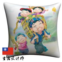 旅行文化亚洲缅甸Myanmar一家子全家福绘画本土手绘抱枕 价格:40.00
