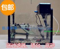 乌龟缸带晒台套装龟缸养龟专用缸玻璃乌龟专用缸大号巴西龟缸包邮 价格:199.00