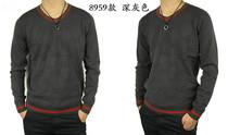 (古驰)Gucci专柜代购男装套头毛衣 古奇时尚V领针织衫 打底衫 价格:138.00
