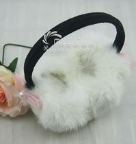2013hello kity中粗架子 兔毛耳套 兔毛耳暖 兔毛耳捂 皮草耳套 价格:35.00