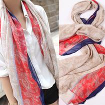 2013新款 韩国民族风围巾大 秋春款棉麻丝巾 长款 空调披肩女 价格:12.60