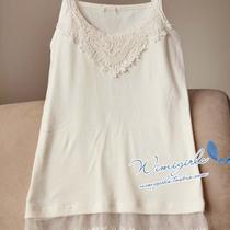 wimi独家限量2-1725钩花蕾丝 漂亮白色打底小背心女式吊带衫均码 价格:39.99